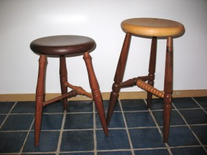2 stools for blog