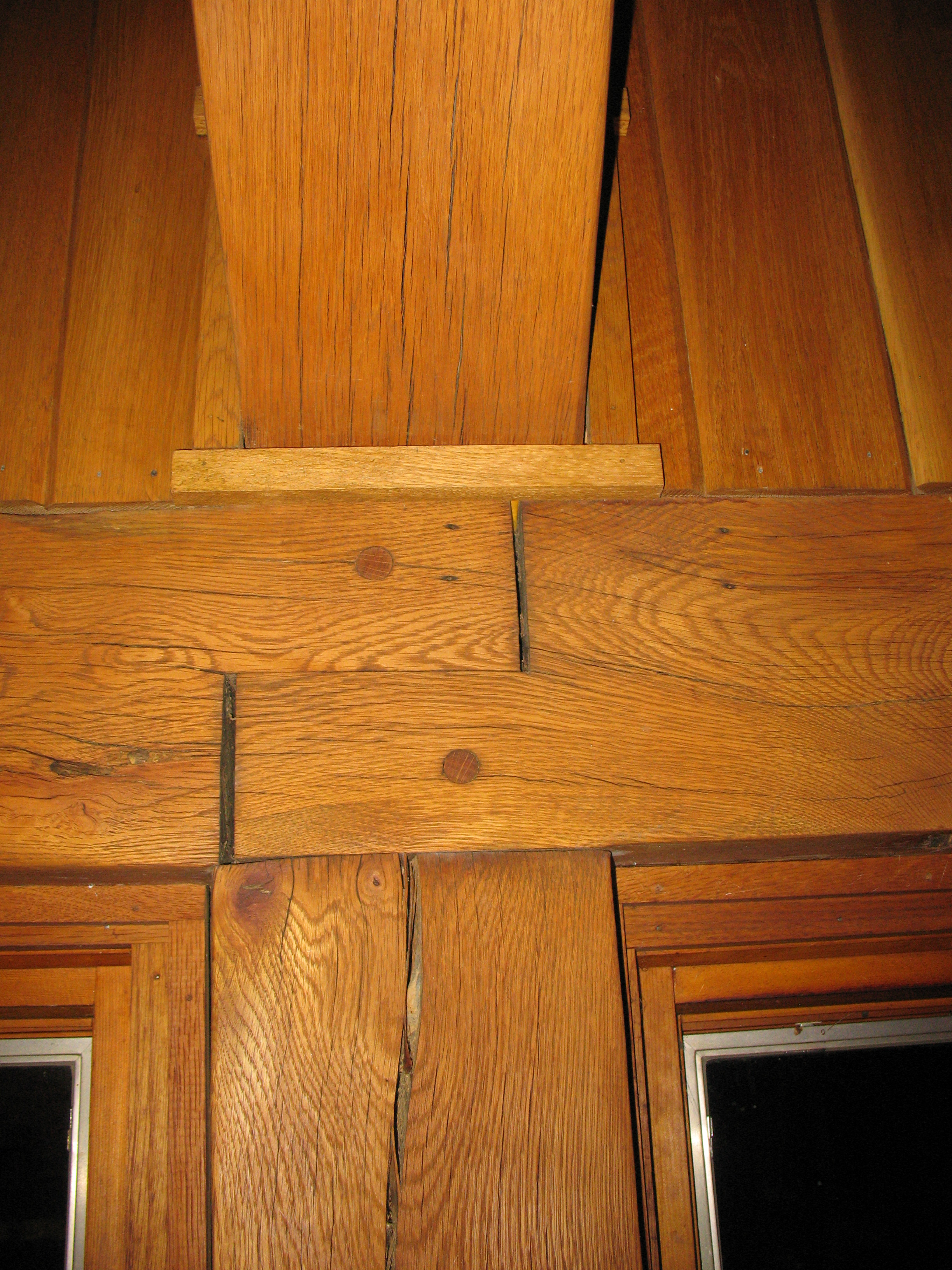 Timber frame Joinery in my house. | jim wallace