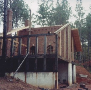The house was framed with White Oak: 8 x 8 posts, beams, and rafters; 8 x 12 floor joists.