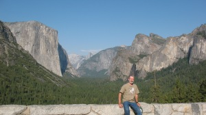 Nancy and I visited Yosemite in 2009.  While I did climb Mt. Ranier, I did not climb El Capitan which is looming over my right shoulder.