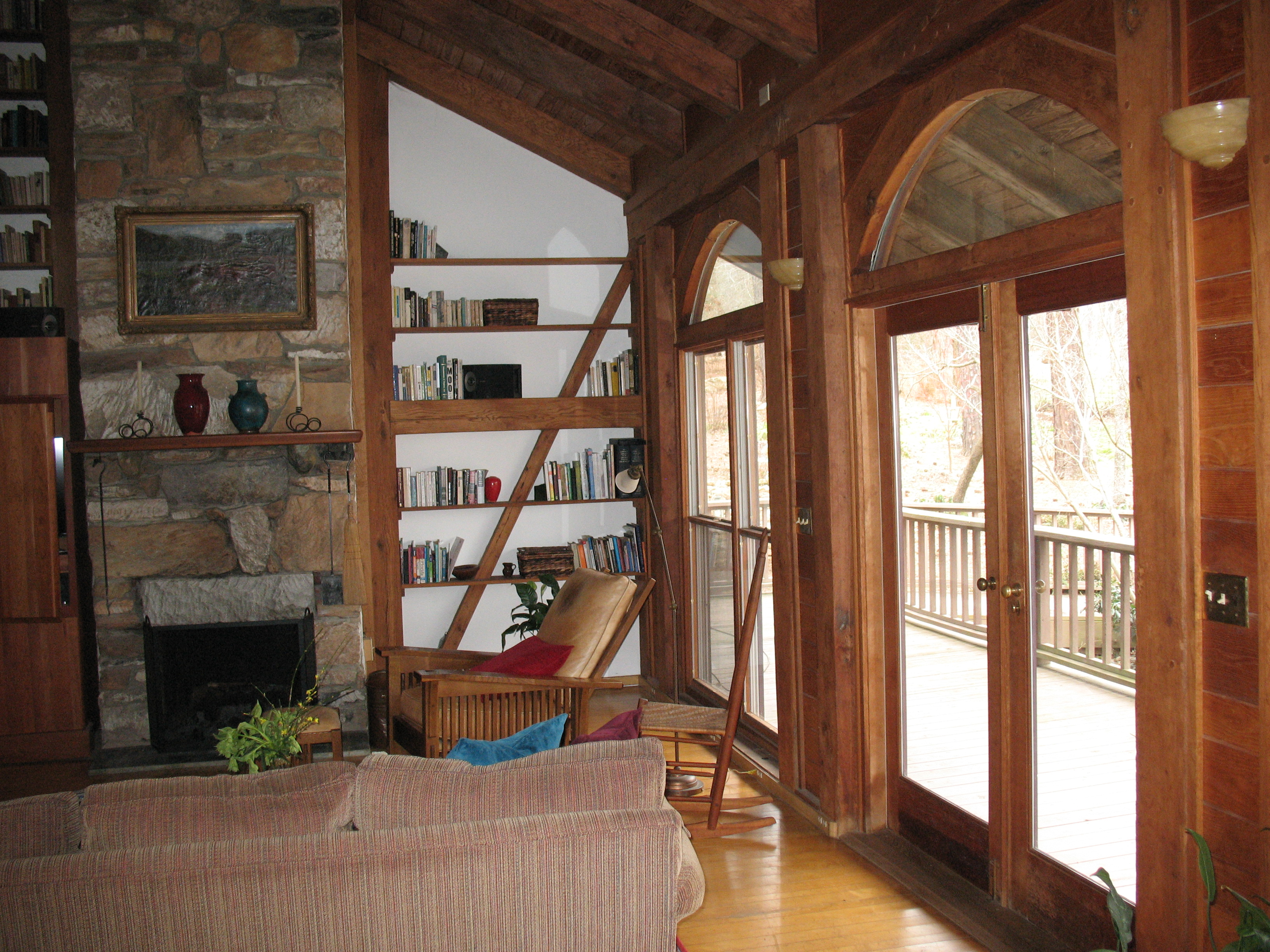 Timber Frame Joinery In My House Jim Wallace - Living room shows