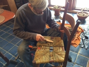 Weaving a Rush Seat
