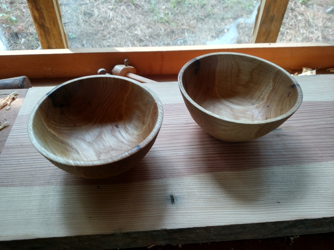 Oak Bowls made at Farmer's Market 2