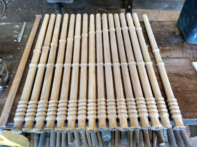 Half the spindles for one side