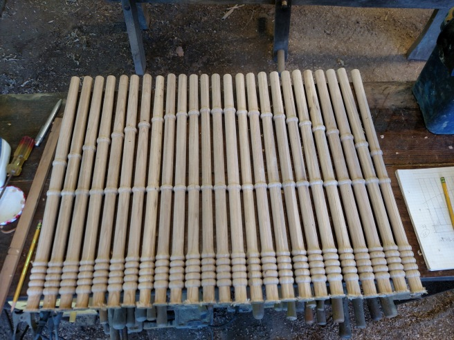 Spindles for one side